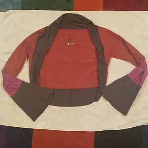 Prana ladies top- sz Large flared sleeves